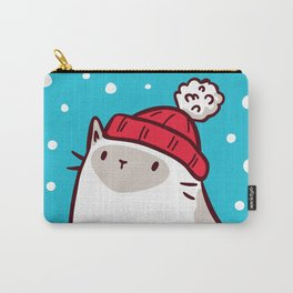 Cat Watching Snowfall Carry-All Pouch