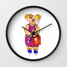 Miss Koala Wall Clock