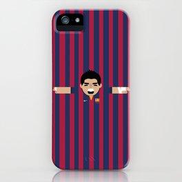 Luis Suárez Barcelona Illustration Print iPhone Case