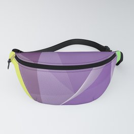 Purple Geometric Spring pattern Fanny Pack