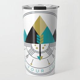 Start Your Journey Badge Travel Mug