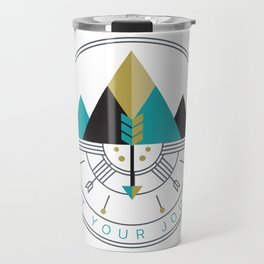 Start Your Journey Badge Travel Mug