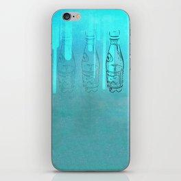 Teal Bottles iPhone Skin