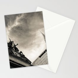 Slice of New York - Grand Central Station, Skyscraper and Office Building in Cream Tones Stationery Cards