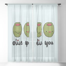 Olive You Sheer Curtain