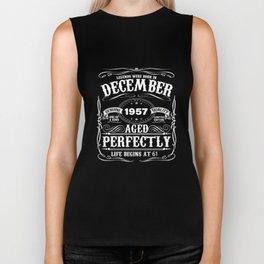 December 1957 57th Birthday T-Shirt Funny 57 Year Gift Biker Tank
