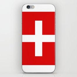 Swiss flag iPhone Skin