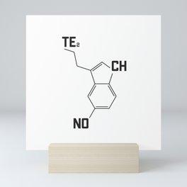 Techno serotonin molecule Mini Art Print