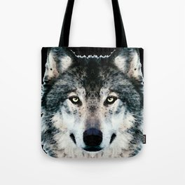 Wolf Art - Timber by Sharon Cummings Tote Bag