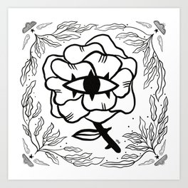 Wisdom Rose Art Print