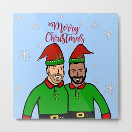 Beard Boy: Festive Elves Metal Print