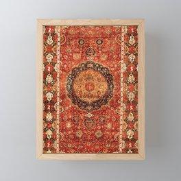 Seley 16th Century Antique Persian Carpet Print Framed Mini Art Print