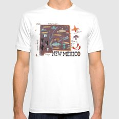 New Mexico White MEDIUM Mens Fitted Tee