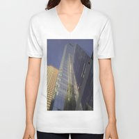 philadelphia V-neck T-shirts featuring Beautiful Philadelphia by khi'en
