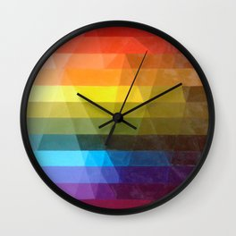 Color Grid Wall Clock