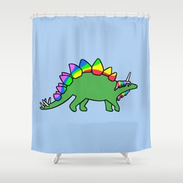 Stegocorn (Unicorn Stegosaurus) Shower Curtain