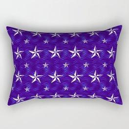 Stella Polaris Navy Blue Design Rectangular Pillow