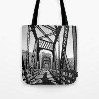 bridge Tote Bags featuring Bridge by Danielle Podeszek