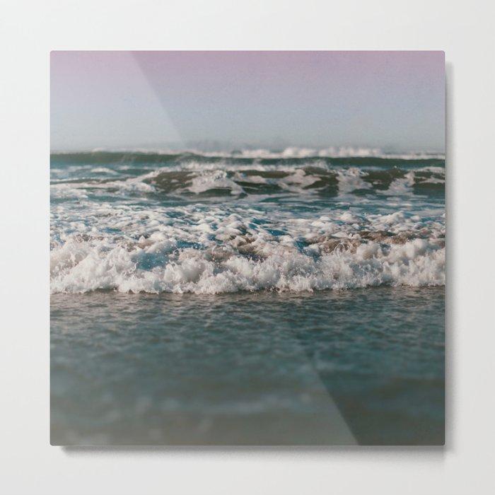 Ocean Crash Metal Print