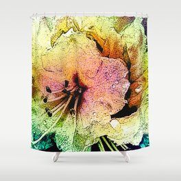 Painted Himalayan Rhodo Shower Curtain