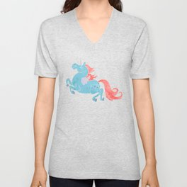 Unicorn Pegasus Unisex V-Neck