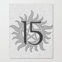 SPN Print (Grey) Canvas Print