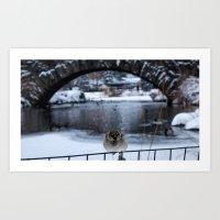 Snow in Central Park IX Art Print
