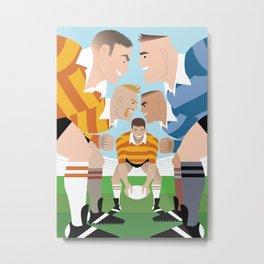 Rugby Scrum for Handsome Devil Press Metal Print