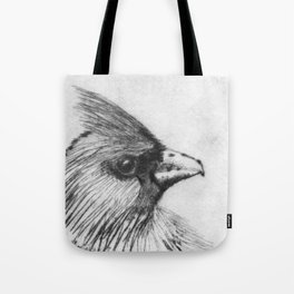 Cardinal Drypoint Tote Bag