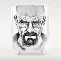 walter white Shower Curtains featuring Walter White by 13 Styx
