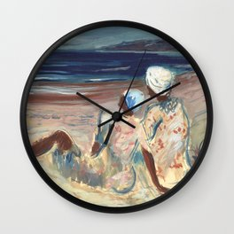 On the Beach by Victor Laredo Wall Clock