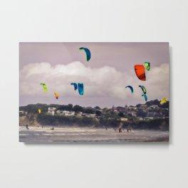 Kite Surfer congestion Metal Print