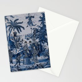 17th Century Delftware Chinoiserie Stationery Cards