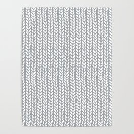 Knit Wave Grey Poster