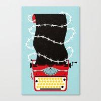 write Canvas Prints featuring Typer Write by Dorian Danielsen