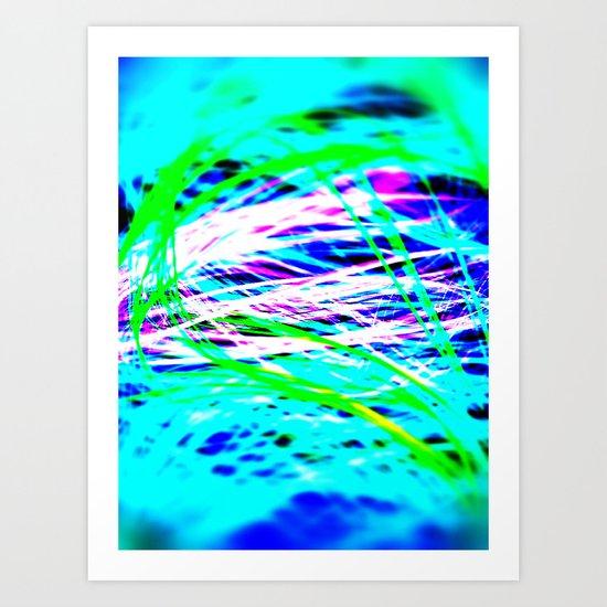 PIXEL TILT Art Print