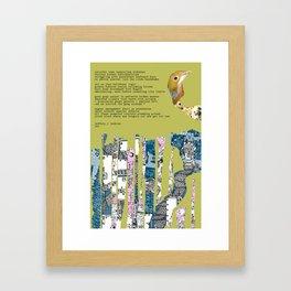 Jx3 Poem - 5 Framed Art Print