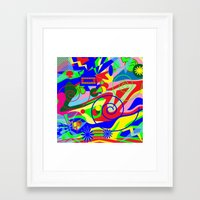 graffiti Framed Art Prints featuring Graffiti by DesignsByMarly