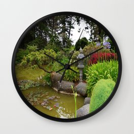 Japanese Garden Lantern Wall Clock