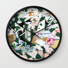 A Stitch in Time Wall Clock