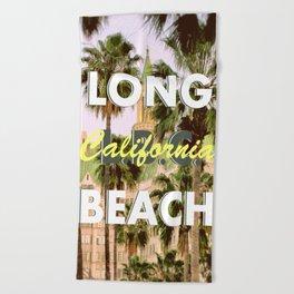 Long Beach, California V.R. Beach Towel