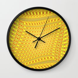 Moved pattern Wall Clock