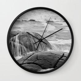 Rocky Shore Icing Wall Clock