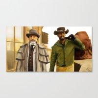 django Canvas Prints featuring Django by Tomcii