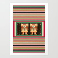 Nick's Blanket 1968 Version 2 (With Figures) Art Print