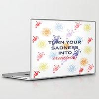 creativity Laptop & iPad Skins featuring Creativity by Roxana C.