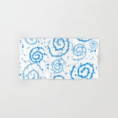 Abstract Blue Squigglisciousness Hand & Bath Towel