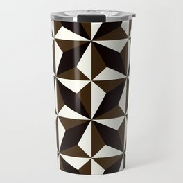 Geometric Pattern 134 (Black brown) Travel Mug