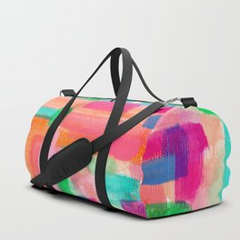 Acrylic Painting Modern Abstract Pattern - Welcome To My Fantasy Duffle Bag