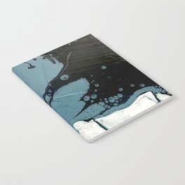 Fortune [5]: A bold, minimal, abstract mixed-media piece in blue and black Notebook